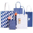 Hot Stamping Recyclable Paper Gift Bag without Logo Print (Hong Kong)